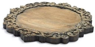 """Sur La Table Antiqued Scroll Round Cheeseboard, 16"""""""