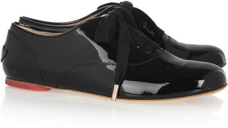 Hogan Katie Grand Loves Patent-leather lace-up flats