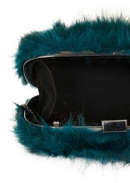 Topshop Fur box bag