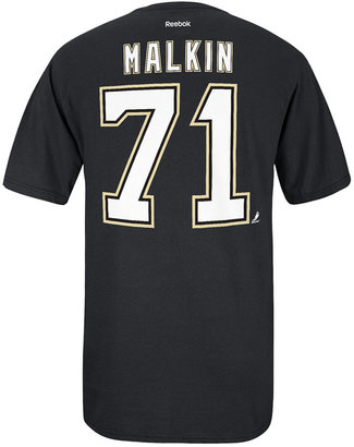 Reebok Men's Short-Sleeve Evgeni Malkin Pittsburgh Penguins Player T-Shirt