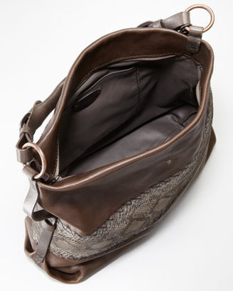 Henry Beguelin Python and Leather Hobo Bag