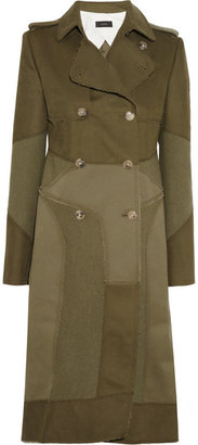 Joseph Saga paneled cotton and wool coat