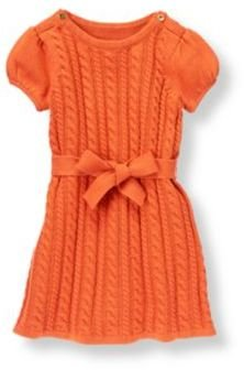 Janie and Jack Belted Cable Sweater Dress