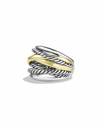 David Yurman Crossover Wide Ring with Gold $850 thestylecure.com