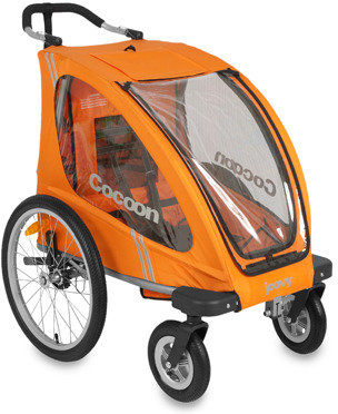 Joovy Cocoon Single Stroller & Accessories (Orangie)
