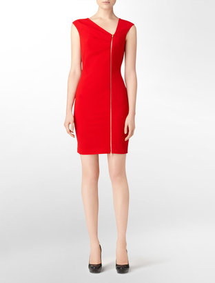 Calvin Klein Asymmetrical Zip Dress