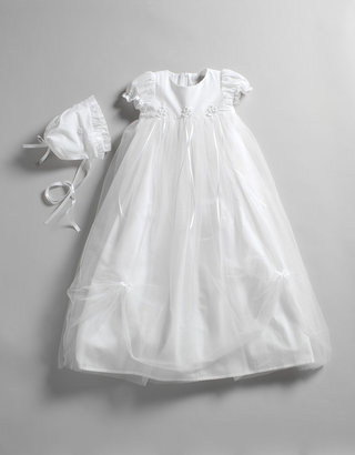 Fantasie KIDS Newborn 0-9 Months Bows and Flowers Tulle Christening Gown