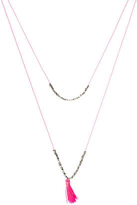 Asos Fine Cord Bead Necklace