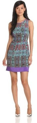 Charlie Jade Women's Dress With Solid Border