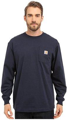 Carhartt Workwear Pocket L/S Tee (Black) Men's Long Sleeve Pullover