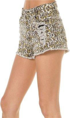 MinkPink Runaway Leopard Shorts