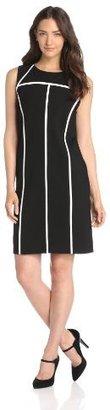 Chaus Women's Sleeveless Seamed Ponte Dress