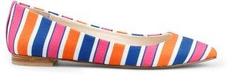 C. Wonder Striped Canvas Pointed Toe Flat