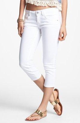 Jolt Crop Skinny Jeans (White) (Juniors)