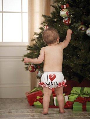Mud Pie Baby-girls Infant I Love Santa Bloomer