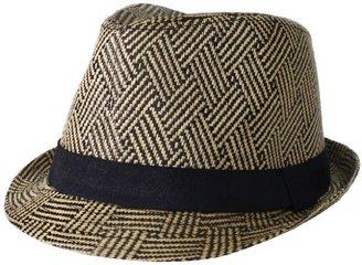 BCBGMAXAZRIA Women's Tribal Weave Fedora Hat