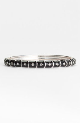 Sequin Small Stripe & Crystal Enamel Bangle