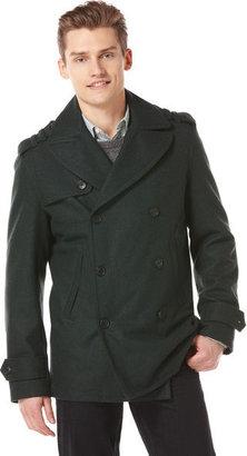 Perry Ellis Melton Double Peacoat Jacket