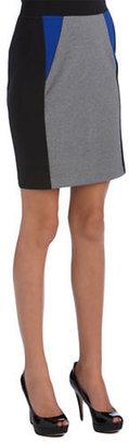 Kensie Colorblock Ponte Skirt