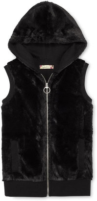 Speechless Hooded Faux Fur Vest - Girls 6-16
