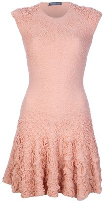 Alexander McQueen puckering jacquard dress