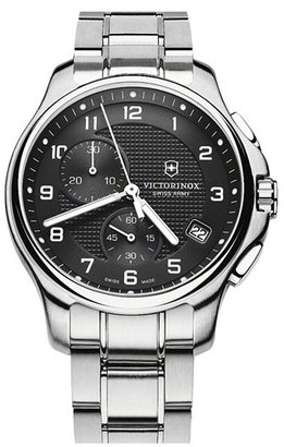 Swiss Army Victorinox 'Officer's' Chronograph Bracelet Watch, 42mm