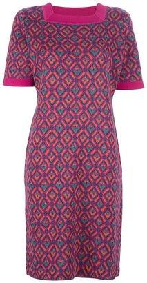 Saint Laurent Vintage geometric print sweater dress