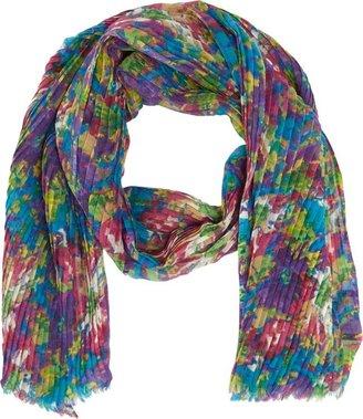 Barneys New York Floral-Print Wool Scarf-Multi