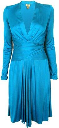 Issa Hydrangea Silk-Jersey Wrap Dress