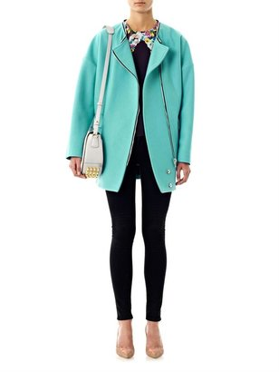 MSGM High-neck wool cocoon coat