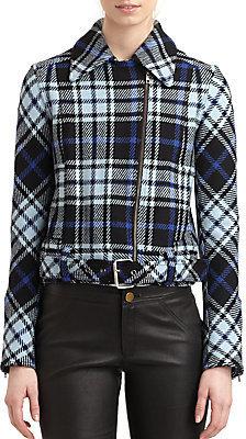 Derek Lam Plaid Buckle Coat
