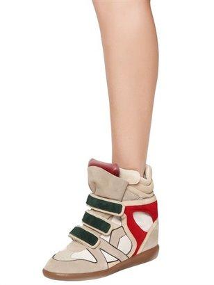 Isabel Marant Etoile 80mm Wila Suede Wedge Sneakers