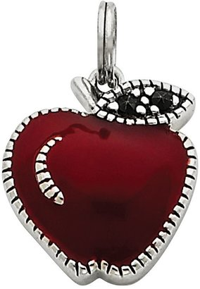 Descent Sterling Silver Marcasite Apple Charm