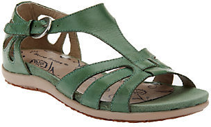 BareTraps Leather Multi T-strap Sandals w/ Cut Outs - Rosely $51.15 thestylecure.com