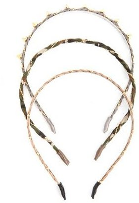 Charlotte Russe Spikes & Chains Headband Trio
