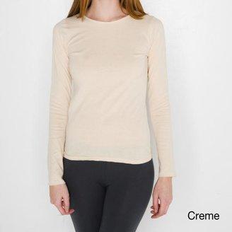 American Apparel Women's Sheer Jersey Long Sleeve T-shirt $15.99 thestylecure.com