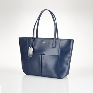 Ralph Lauren Newbury Leather Pocket Tote