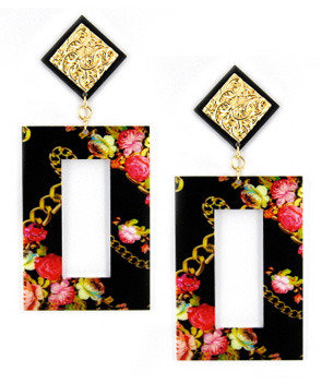 Roial Floral Chain Earrings