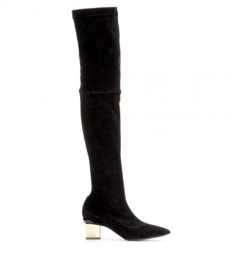 Nicholas Kirkwood Suede over-the-knee boots