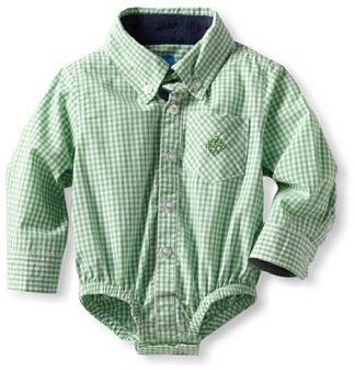 Andy & Evan Boy's Lord of the Gings Bodysuit, Green, 6-12 Months