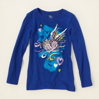 Children's Place Heart wings graphic tee