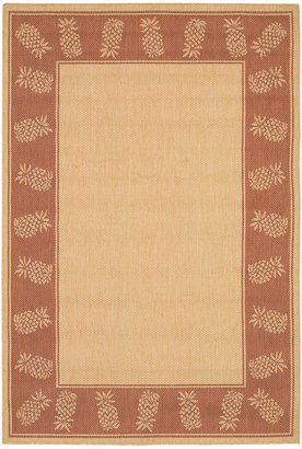 "Couristan Area Rug, Recife Indoor/Outdoor 1177/1112 Tropics Natural-Terra-cotta 8' 6"" Round"