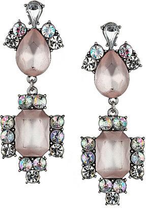 Topshop Peach and Rhinestone Drop Earrings