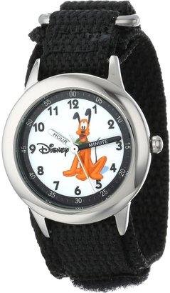 Disney Kids' W000152 Pluto Stainless Steel Time Teacher Watch