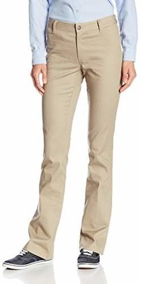 Lee Uniforms Juniors Curvey Bootleg Pant