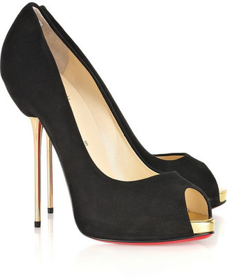 Christian Louboutin Open Lips 120 suede pumps