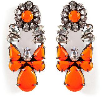 Shourouk Silver-Plated Mia Earrings in Orange