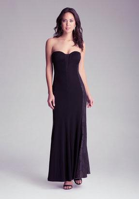 Bebe Strapless Side Inset Dress