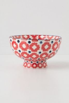 Anthropologie Tiled & Dotted Bowl