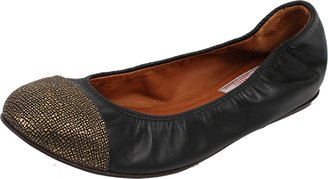 Lanvin Gold Metallic Toe Ballet Flat
